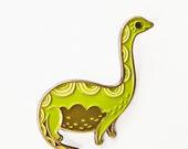 Enamel Pin -Dinosaur Pin Dinosaur Enamel Pin Brontosaurus Pin Nessie Pin Loch Ness Enamel Pin Loch Ness Monster Enamel Pins Lapel Pins