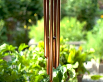 Wind Chime Copper Handmade Hand Crafted, wind chimes windchimes