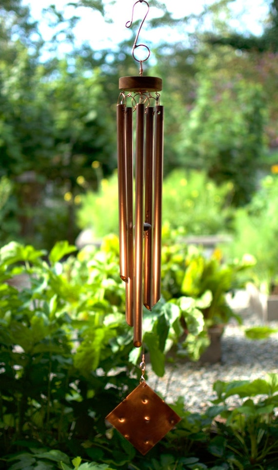 Wind chime copper handmade hand crafted wind chimes for Handcrafted or hand crafted