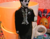 Charlie Chaplin Pin  The Little Tramp Silent Movie Star Pop Culture Kitsch