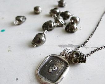 Add a Charm - Pyrite 9x7mm Skull Gemstone Accent