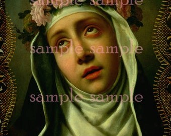 no259 Antique  Painting > Instant Digital DOWNLOAD > Mother Mary Victorian Collage sheet > Prayer Card > Religious Download