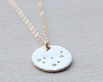 Capricorn Necklace, Zodiac Necklace, Constellation Necklace, Capricorn Constellation, Birthday Gift, Capricorn Zodiac Necklace 14k gold fill
