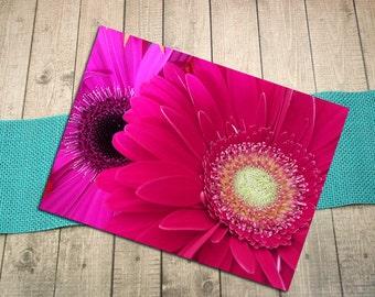 "Gerbera Daisies Up Close, Fine Art Postcard, Flowers, Floral, Bright Colors, Friendship, Invitation, Shower, Postcrossing - 5.75"" x 4.125"""