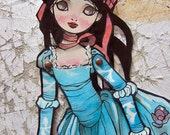 Jointed Articulated Paper Dolls - Folk Art - Paper Goods - Hand-painted - FairyTale - Snow White