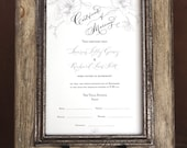 Marriage Certificate, Wedding Certificate, Custom Calligraphy, Watercolor Design