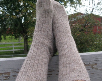 Knit Socks, Alpaca and Wool Sox,  Grown in Michigan for Men or Women - Small Size - Great Gift for Her,  Under 25.00