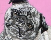 Large Size - Custom Pet Portrait Painting