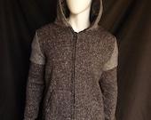 Grey Zip Hoodie for Men, Soft Sweater Fleece - Menswear, Unique