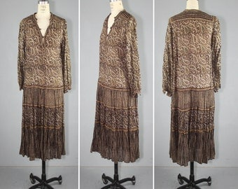 india gauze / bohemian / festival dress / 1970s / ADINI vintage hippie dress