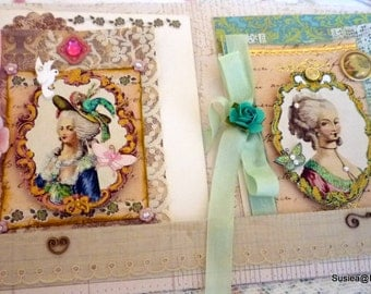 Marie Antoinette Greeting Card Set Stationary Blank Card Set