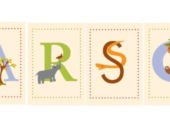 custom name alphabet card prints