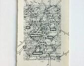 RESERVED FOR L + K//Blackout Poetry (drop troubles) Original Artwork & Poem