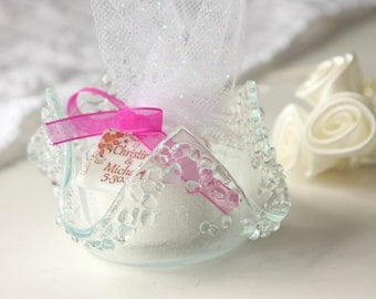 Wedding Favors Glass Votive Holder Candle Candy Dish, GetGlassy