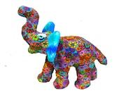 Modern Elephant sculpture, elephant art, Elephant decor, polymer clay elephant, elephant decoration,design, home decor elephant, colorful.