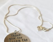 Thank You For Raising The Man of My Dreams Sterling Silver Pendant Necklace Mother In Law Wedding Gift