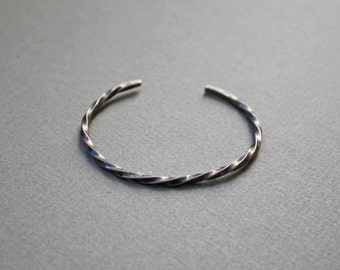 Silver Twist Cuff
