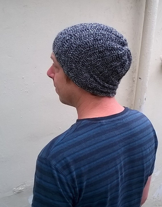 Crochet Pattern for Ribbed Slouchy Beanie Hat PDF