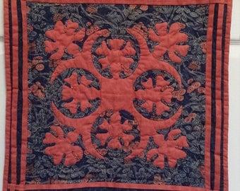 Hawaiian Applique Quilt Wallhanging
