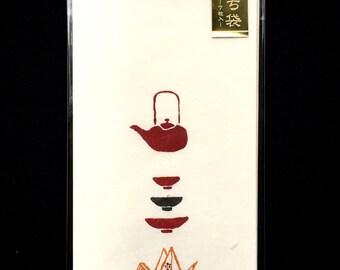 Japanese Envelopes - Traditional Sake Set - Origami Crane -   Set of 7