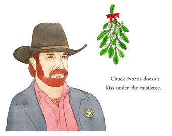 Chuck Norris Christmas Cards - Five Cards