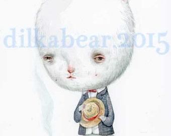 Mr.CHAT mini giclee print