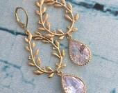 Crystal Wreath Chandelier Earrings