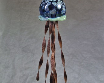 Jellyfish Ornament with Copper tentacles 16-0154