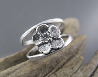 Handmade Double Banded Ring - Small Spring Buttercup