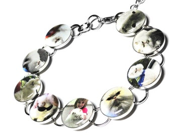 Custom Pet Bracelet, Personalized Pet Jewelry, Pet Bracelet, Custom Pet Jewelry, Photo, Dog Jewelry, Custom Cat Jewelry, Pet Memorial