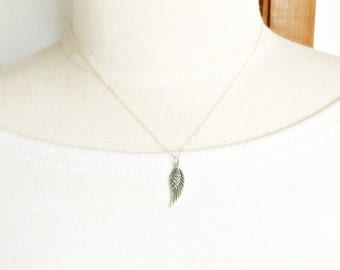 Angel wing necklace - Sterling silver bird wing, inspirational gift for her, take flight, back to school, birthday present