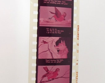 Vintage Educational Filmstrip - Film Strip - Robin's Christmas Song - 35mm film - childrens story - holiday