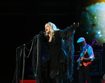Birthday Gift for Stevie Nicks Fan Gift Black, Silver Shawl Rhiannon Shawl Stevie Nicks Cosplay Dress like Stevie Nicks Clothes Outfit