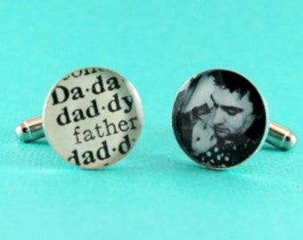 Fathers Day, Father's Day, Fathers Day Gift, First Fathers Day, Personalized Fathers Gifts, Custom Photo Cufflinks
