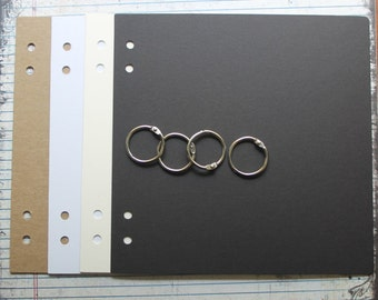 8 x 8 inch chipboard album w/bookrings [choose # of pages,chipboard or cardstock]