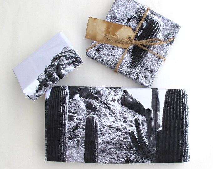 Saguaro Fields Gift Wrap Sheets - Cacti and Succulent Gift Wrap - Desert Southwest Gift Wrapping Paper