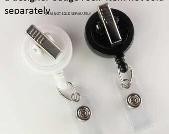 Add an Alligator Clip badge reel OPTION for one badge reel- one color choice only NOT sold SEPARATELY