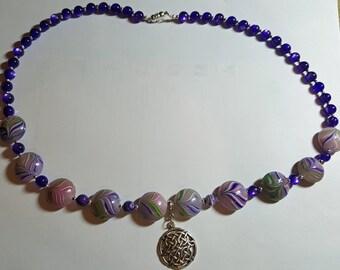 Purple Celtic Necklace