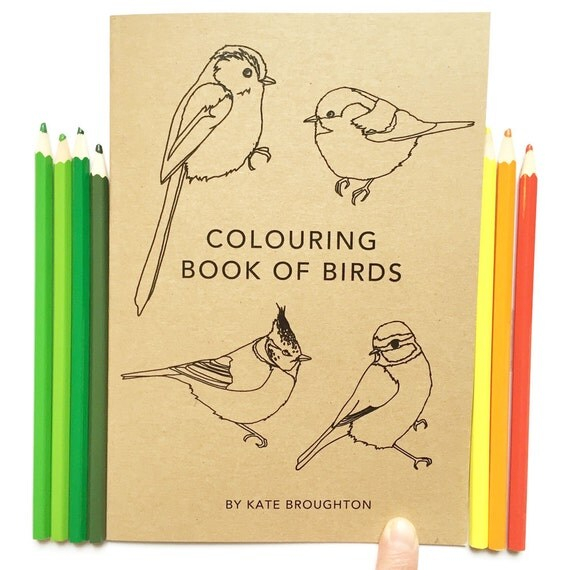 Colouring Book of Birds, 100% recycled