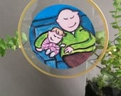 Father Daughter ornament, gift for family housewarming gift, 2016 ornament, unique ornament for dad by bernadette artwork