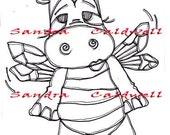998 Bee a Hippo Digi Stamp