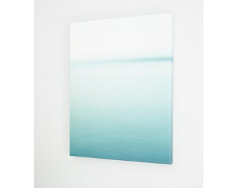 Beach Canvas Oversized Wall Art - Mint Turquoise Abstract Art - Large Landscape Photography - Nature - Modern Minimalist Print - Burlington