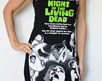 Night of the Living Dead shirt Horror movie Tank Top halloween alternative clothing reconstructed