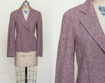 1970s Tweed Blazer --- Vintage Jacket