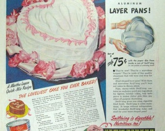Swiftning Sweetheart Cake Baking Ad Vintage Advertising Wall Art Decor E127