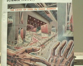 GALAXY SCIENCE FICTION digest October 1953 volume 7 issue 1 vintage 50s sci-fi pulp paranormal magazine Asimov