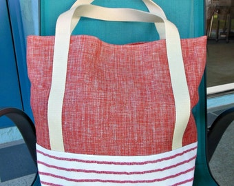 Red Sparkle Placemat Tote Bag - OOAK