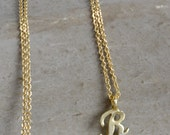 The Initial Necklace in Gold