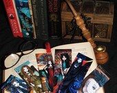 Set of Six Paper Bookmarks Myka Jelina Bohemian Gothic Tribal Fairy Art
