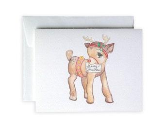 Reindeer Greeting Card or Notecard Set